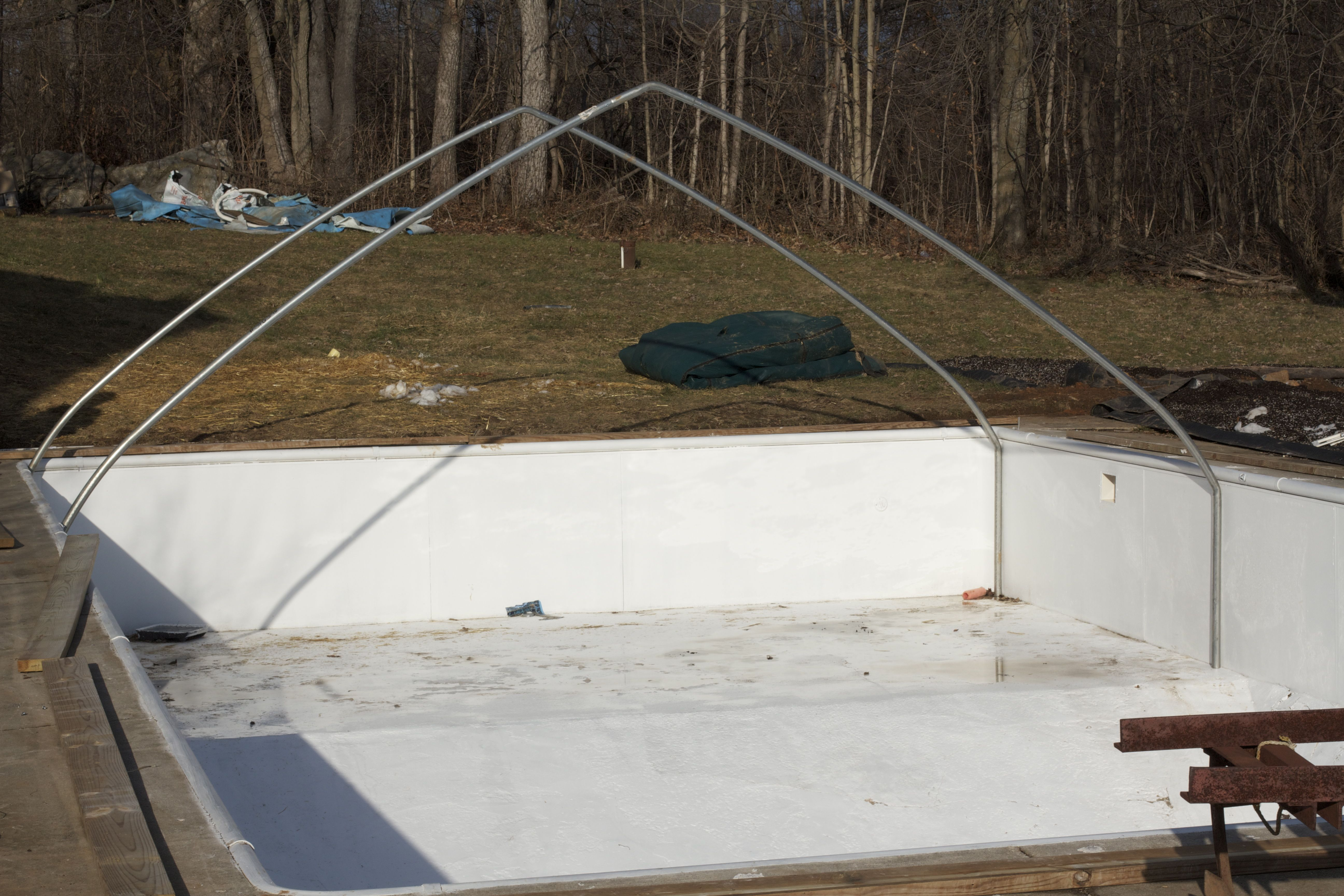 Greenhouse building brown girl farming for Swimming pool converted to greenhouse
